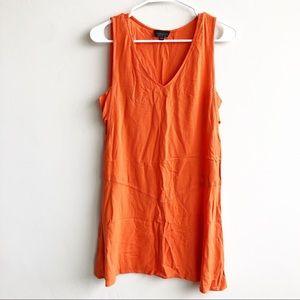Topshop | Orange V Neck Tank Side Cut Outs